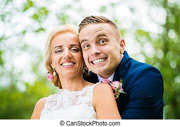 美麗, 夫婦, 婚禮