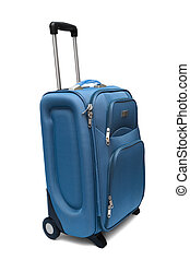 large suitcase - modern large suitcase on a white background...