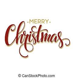 Merry Christmas Lettering Design Vector illustration EPS10