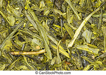 Green Tea Japan Sencha Close Up High Quality Studio Shot
