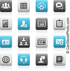 Business Technology - Matte Series - icons for your web,...