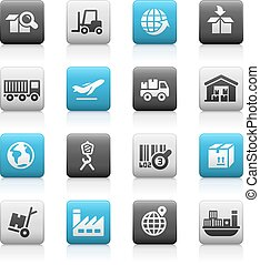 Industry & Logistics - Matte Series - icons for your web,...