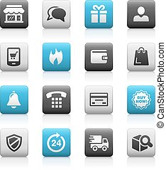 E-Shop Icons -- Matte Series - icons for your web, mobile or...