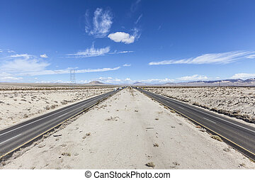 Interstate 15 between Los Angeles and Las Vegas in...