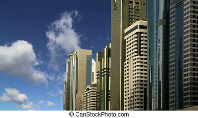 skyscrapers,Sheikh zayed road,Dubai - Modern skyscrapers,...