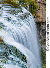 Websters falls in Hamilton - Websters falls in autumnin near...