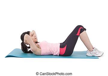 girl doing abdominal