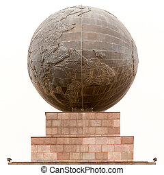 Equator Sphere Monument In Quito Ecuador