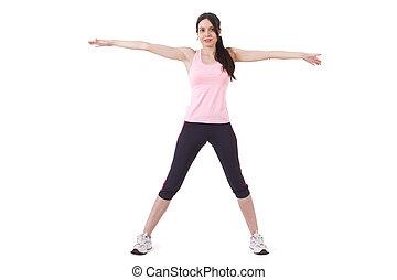 girl doing fitness