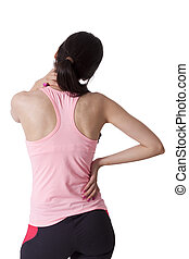 girl with back pain