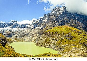 El Altar Volcano In Sangay National Park Ecuador Composite...