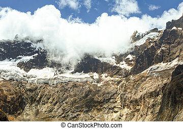 El Altar Volcano Glacier - El Altar Volcano Sangay National...