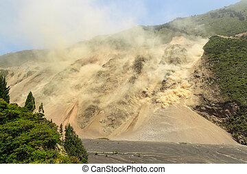 Massive Landslide At High Altitude In Ecuador - Natural...