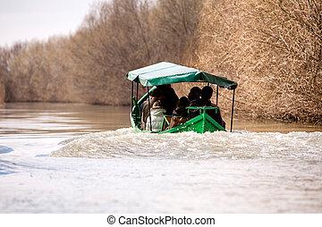 Boat Transportation In Danube Delta Romania - Danube Delta...