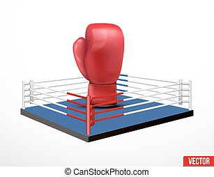 Symbol of a boxing and prize ring - Symbol of a boxing and...