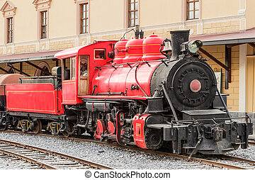 Ecuadorian Steam Locomotive In Cimbacalle Trains Museum...