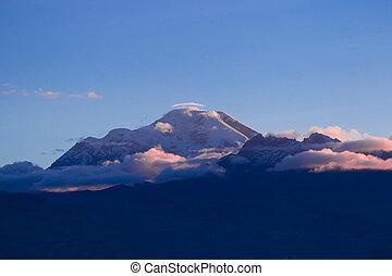 Chimborazo Volcano At Dusk - Chimborazo Volcano In Ecuador...
