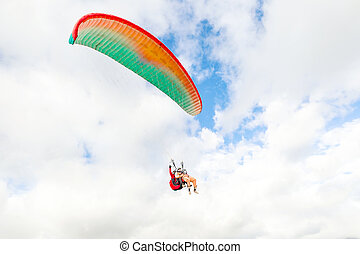 Tandem Paragliding Ground View - Tandem Paragliding With The...