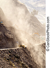 Road Building Vertical - Road Building In Ecuadorian Andes...