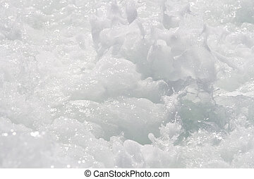 Close up of white water
