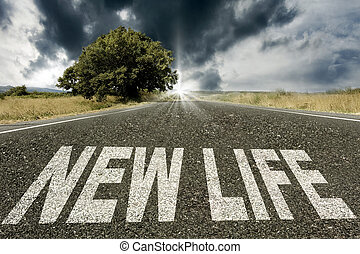 road with the message of new life