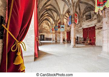 Medieval Castle Reception Room - Knights Room In Hunyad...