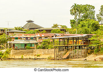 Amazonian Rural Living - Typical Construction In The...