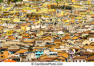 Crowded Neighborhood Quito - Crowded Neighborhood In The...