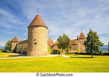 Rolle Castle In Switzerland - Rolle Castle Situated On...