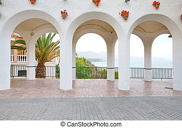 Balcony Of Europe Arches Nerja Spain