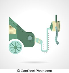 Automobile emission test flat vector icon - Car service...