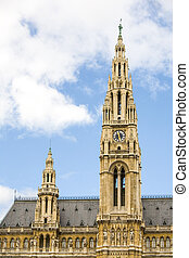 Clock Tower In Vienna - Long Telephoto Lenses Camera Tripod...