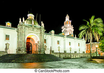 Quito Cathedral In Ecuador - Cathedral On Main Square In...