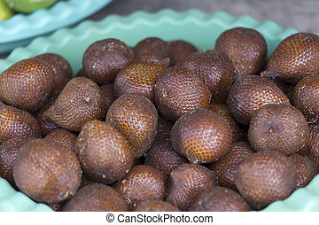 Indonesia Salacca or zalacca tropical fruit for background