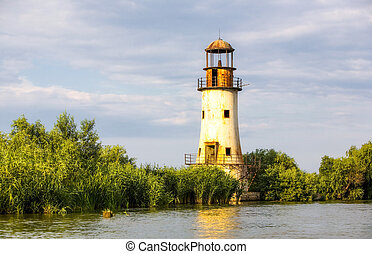 Sulina Lighthouse In The Danube Delta - Abandoned Lighthouse...