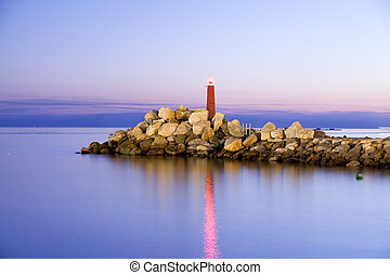 Small Lighthouse In The Night - Lighthouse In The Night Very...