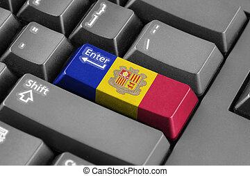 Enter button with Andorra Flag