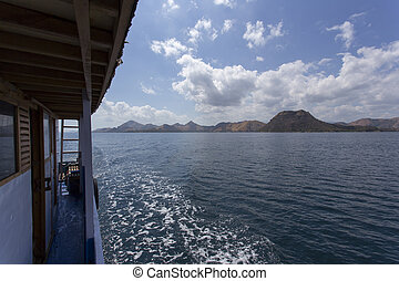 Komodo Island view from the boat
