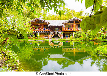 Large Amazonian Forest Hut - Modern Lodge In Amazonian Basin...