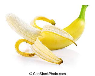 single fresh banana fruit isolated
