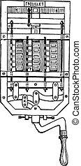 The seventeen white cartridges represent seventeen dialers,...