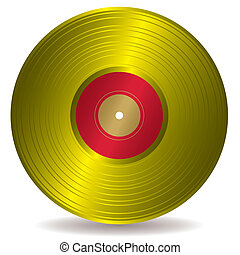golden disc record album - Award winning golden disc record...