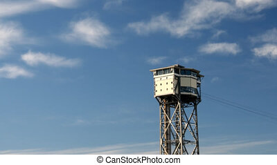 Cableway tower - Time lapse in Barcelona