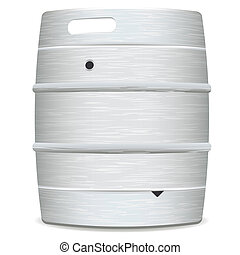 metal beer keg - illustrated metal beer keg with grained...