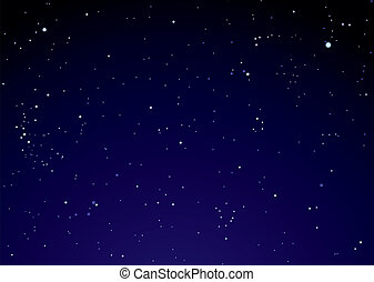 Night sky with star clouds