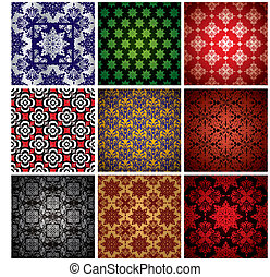 wallpaper collection - Abstract collection of nine seamless...