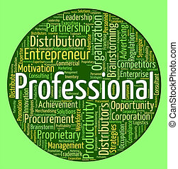 Professional Word Shows Proficiency Specialist And...