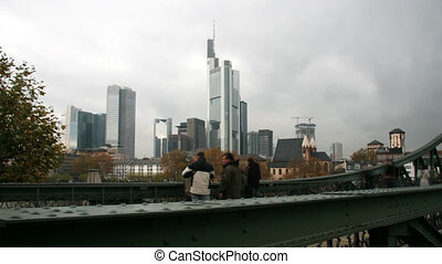 Frankfurt skyline - Time lapse