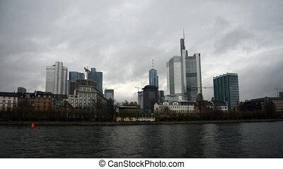 Frankfurt Skyline, Germany - Time lapse