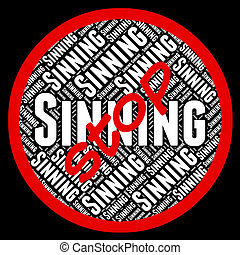 Stop Sinning Shows Warning Sign And Control - Stop Sinning...